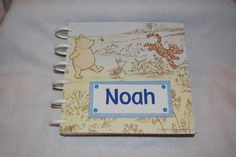 Winnie the Pooh Personalized Photo Album/Scrapbook for Boy by DreaminOfWarmPlaces on Etsy