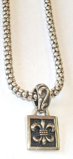 SILPADA Fleur De Lis Pendant Sterling Popcorn by feathersoup, $65.00  SOLD MAY 23rd