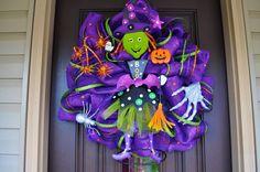 Halloween Witch Wreath Halloween Wreath by RedWithEnvyDesigns, $125.00