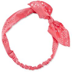 Carole Peach Bandana Print Headwrap ($8.40) ❤ liked on Polyvore featuring accessories, hair accessories, hair bands accessories, hair band headband, cotton headbands, head wrap hair accessories and headband hair accessories