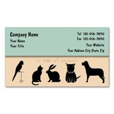 Pet Care Business Cards Fixed. This is a fully customizable business card and available on several paper types for your needs. You can upload your own image or use the image as is. Just click this template to get started!