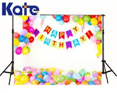 Balloons Birthday Photography Background Backdrops by katehome2014