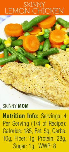 Skinny Lemon Chicken is a great way to add a new flavor to your bland chicken! Keep this a low carb meal by adding your favorite veggies to this dish. You\'ll be full and definitely satisfied!