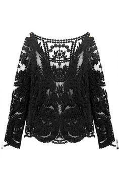 Black Sheer Layering Top