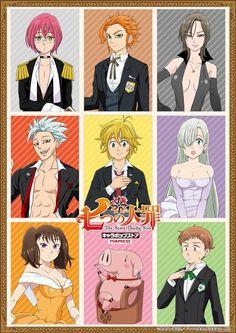 Nanatsu no Taizai The Seven Deadly Sins Suits Fancy Manga Anime, Kpop Anime, Film Anime, Otaku Anime, Anime Art, Seven Deadly Sins Anime, 7 Deadly Sins, Meliodas And Elizabeth, Elizabeth Liones