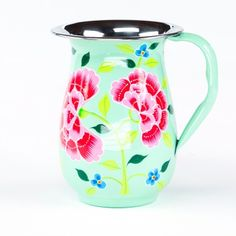 This Franjipani Floral Jug is made by the artisan Nkuku in India, this one is so cute, I love mint and pink, additionally the frangipani flowers make it a piece to delight in for long. It's made of sustainable certified food safe stainless steel #FairTuesday