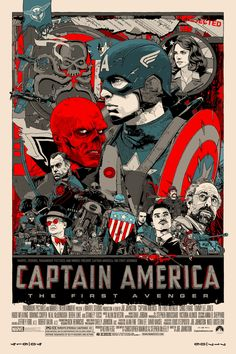 Captain America: The First Avenger (2011) - Mondo poster by Tyler Stout