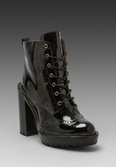Jeffrey Campbell Forks Lace Up Leather Boot on shopstyle.com