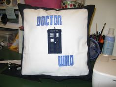 Pillows for my sister to give to her family of Whovians!
