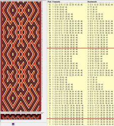 46 tarjetas hexagonales, 5 colores, repite cada 30 movimientos // sed_523_c6 diseñado en GTT༺❁