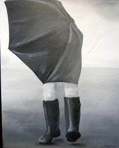 """""""La tempête"""" 80 cm x 100 cm Acrylic on canvas 300 euro"""