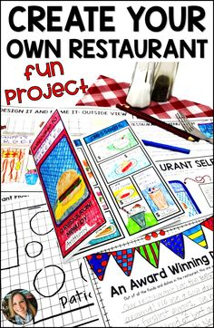 Restaurant Menu Project Based Learning PBL When students design and create their own restaurants, th First Grade Projects, Kindergarten Projects, Kindergarten Lesson Plans, Math Projects, School Projects, Book Projects, Common Core Standards, Happy Trails, Robert Louis Stevenson