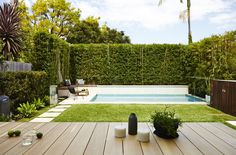 Five Dock Garden – Designed by Harrison's Landscaping A Mini Pool is quickl… Backyard Pool Landscaping, Backyard Pool Designs, Small Backyard Pools, Small Pools, Backyard Garden Design, Swimming Pools Backyard, Swimming Pool Designs, Outdoor Pool, Small Garden With Pool Ideas