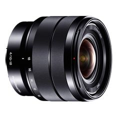 Super lente grande angular zoom F4 10-18mm com vidro Super ED e estabilização de imagem Optical SteadyShot Abertura máxima F4 em toda a gama focal Utilize o grande ângulo superior com uma distância focal mínima de 10 mm A estabilização de imagem que melhora a fotografar com pouca luz