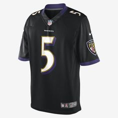 GRIDIRON STYLE, PREMIUM DESIGN. The NFL Baltimore Ravens Limited Jersey delivers unparalleled fit and style for fans who command attention, at the stadium and on the street. FLYWIRE STRENGTH Flywire strength resists stretch around the neck. STRATEGIC VENTILATION Strategic ventilation over major heat zones helps keep you cool. PREMIUM TWILL NUMBERS Highly flexible embroidered twill numbers offer mobility and premium style. Product Details Tailored fit designed for movement Water-repelling…