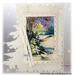 Christmas card - scrapping.no - marianne design