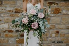 Pink Rose Bouquet | Ava Rose Hamilton Bride Rustic Homespun Wedding At Natural Retreats Yorkshire Dales With Images From Mike & Tom Storytelling Wedding Photography