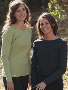 Women's short and long sleeve tees.  Free-Trade Certified, which means they're free of slavery