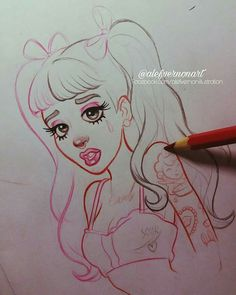 Melanie Martinez in Disney style Cute Drawings, Drawing Sketches, Melanie Martinez Drawings, T Art, Sketch Inspiration, Cry Baby, Art Sketchbook, Art Inspo, Character Design