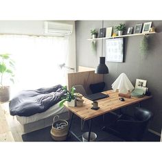 60 Ideas for design ideas diy small apartments Studio Apartment Layout, Small Apartment Interior, Studio Apartment Decorating, Room Interior, Interior Design, Diy Design, Design Ideas, Small Room Bedroom, Home Bedroom