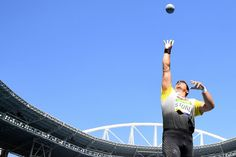 Germany's David Storl competes in the men's shot put, Aug. 18, 2016.