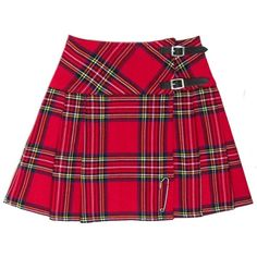 Royal Stewart 16.5 inch Mini Kilt Skirt - US Size 18 at Amazon Women's... ($30) ❤ liked on Polyvore featuring skirts, mini skirts, red skirts, mini skirt, holiday skirts, cocktail skirt and wide skirt