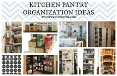 Food Pantry Organization @ItsOverflowing.com