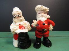1956 Santa and Mrs Claus Salt and Pepper by 13thStreetEmporium, $14.00