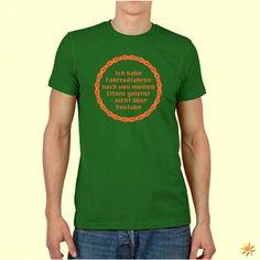 """T-Shirt mit dem Spruch: """"Ich habe Fahrradfahren noch von meinen Eltern gelernt und nicht über Youtube."""""""