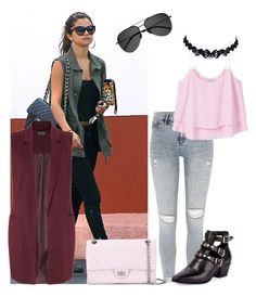 """""""Selena Gomez!!"""" by chocolatesilky ❤ liked on Polyvore featuring Miss Selfridge, River Island, MANGO, Yves Saint Laurent and Chanel"""