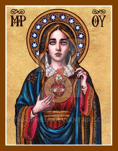 Immaculate Heart of Mary icon by Theophilia on DeviantArt
