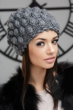 Freya hat - buy in bulk with delivery in Moscow . - Knit and Crochet - Awesome knitted and crocheted items and patterns. Crochet Leaf Patterns, Crochet Headband Pattern, Knit Crochet, Crochet Hats, Free Crochet, Knitting Machine Patterns, Knit Beanie Hat, Beanies, Winter Hats For Women