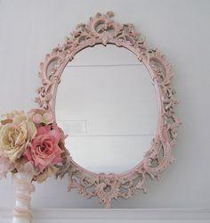 pastel shabby chic mirror