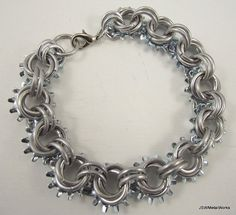 Steampunk Mobius Aluminum Bracelet Chainmail by JSWMetalWorks, $35.00