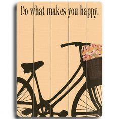 Do what makes you happy wall decor