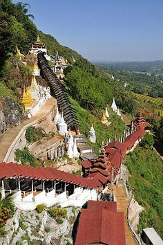 Stairs to the Pindaya Caves, Pindaya, Burma, Myanmar, Southeast Asia