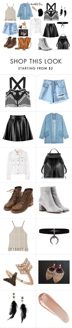 """huhu:D"" by tinaair on Polyvore featuring moda, Exclusive for Intermix, Chicnova Fashion, Boohoo, Steve J & Yoni P, MANGO, Le Parmentier, Gianvito Rossi, Miguelina ve Bee Goddess"