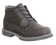 b8cad20360 Timberland Nellie Chukka Double Waterproof Boots Dark Grey Nubuck - Ankle  Boots