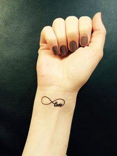 Temporary Tattoo | Eternity Love | Tattoo Art | Love Tattoo | Wrist Tattoo | Fun Tattoo | Tattoo | Love | handmade by misssfaith by misssfaith on Etsy