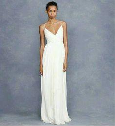 Vestido de casamento fluido com alça