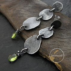 Earrings++peridot+by+studioformood+on+Etsy