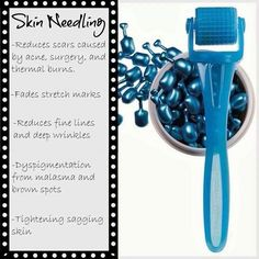 This is an amazing tool that stimulates collagen production. It can change the texture of your skin tremendously. Message me