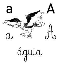 Alfabeto ilustrado cursivo, alfabeto em letra cursiva, alfabeto com as quatro letras, alfabeto com letras maiúsculas e minúsculas.