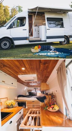 The 30 Most Epic Vans and Bus Transformations That Will Inspire You to Hit the Road Van Conversion Interior, Camper Van Conversion Diy, Sprinter Van Conversion, Camping Car Van, Casas Trailer, School Bus Camper, Converted Vans, Kombi Home, Bus Living