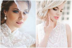 Left found on: B Modish (http://bmodish.com/10-beautiful-wedding-day-makeup-ideas) - Right found on: Pinterest (https://www.pinterest.com/pin/91620173647293048/) - Pinterested @ http://wedspiration.com.