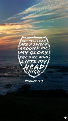Psalm 3:3 But you, Lord, are a shield around me, my glory, the one who lifts my head high.