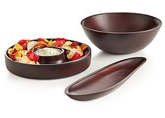 Pier 1 Mango Wood Serveware will beautifully complement any buffet style
