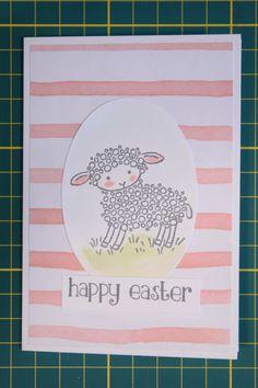 Paaskaart met Easter Lamb - Het Knutsellab - Stampin Up #stampinup #crafts #knutselen #stempelen