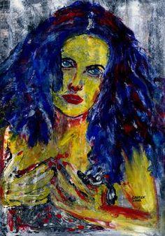 "Saatchi Art Artist CARMEN LUNA; Painting, ""53-Expressions of Carmen Luna."" #art http://www.saatchiart.com/art-collection/Painting-Mixed-Media/Expressions-of-Carmen-Luna/71968/25377/view"