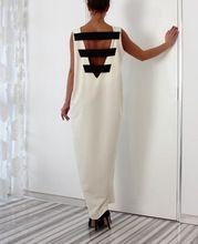 Осень зима стиль новый женский открытой спиной выдалбливают широкий свободного покроя черный белый макси платье лонг-бич обернуть платье дамы Vestidos(China (Mainland))